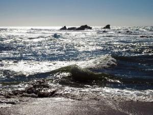Sail Rock from the beach at Pillar Point