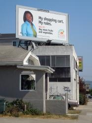 House & billboard