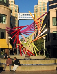"Oakland City Center: ""There"" sculpture"
