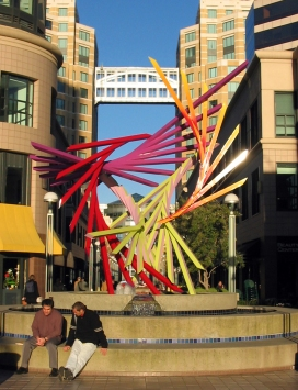 """Oakland City Center: """"There"""" sculpture"""