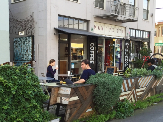 40th St Parklet, Oakland-from street
